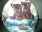 Click here to enlarge image and see more about item wildpff3s: Princeton Gallery Plate Curious Duo