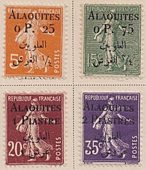 Alaouites Sc#02-04, 07 (1925) (Image1)