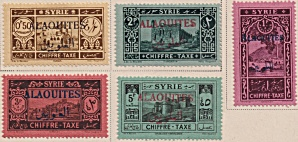 Alaouites Postage Due Sc#J06-10  (1925) (Image1)