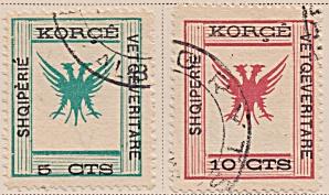 Albania Sc#57-58  (1917) (Image1)