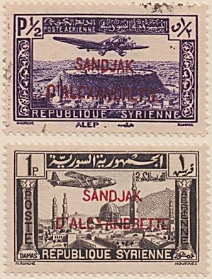 Alexandretta Air Post Sc#C01-02 (1938) (Image1)