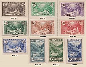 Andorra (French Admin.) various Sc#34-51 (Image1)