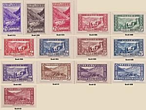 Andorra (French Admin.) various Sc#51A-63 (Image1)