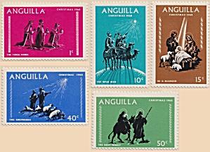 Anguilla Sc#44-48  (1968)  unused (Image1)