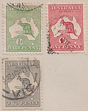 Australia Sc#01-03  (1913) (Image1)