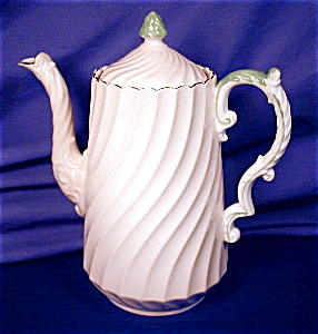 Aynsley Pink Swirl Fluted Coffee Pot (Image1)