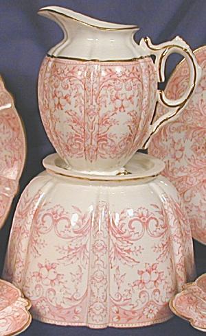 Aynsley Pink Print creamer & waste (Image1)