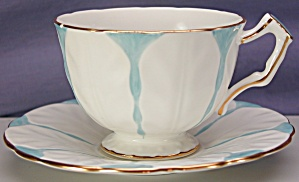 Aynsley Tulip Shape blue tint cup & saucer (Image1)