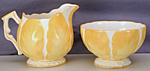 Aynsley Yellow Tulip Demi Creamer & Sugar (Image1)