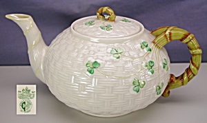 Belleek 'shamrock' Teapot