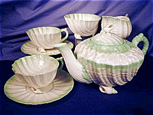 Belleek Neptune green tint Tea for Two Set (Image1)