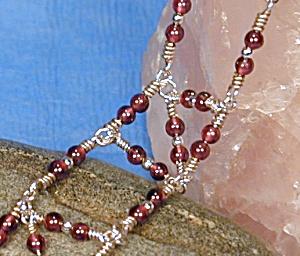 Sterling Silver & Garnet & 'N' Bracelet (Image1)