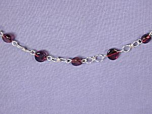 Garnet Coin & SS Figure 8 bracelet (Image1)