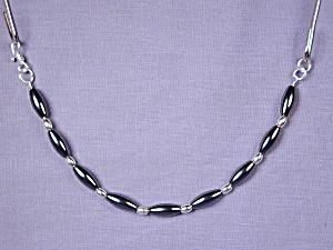 Hematite Rice Bead & Sterling Silver bracelet (Image1)