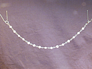 White Freshwater Pearl Nugget & SS bracelet (Image1)