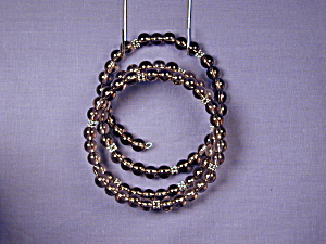 Smoky Quartz & Pewter Bangle Bracelet (Image1)