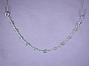 Swarovski Peridot bicones & SS bracelet (Image1)