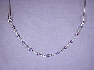 Swarovki Tanzanite & SS bracelet (Image1)