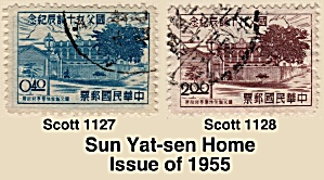 Sun Yat-sen Birthday  of 1955 Sc#1127-1128 (Image1)