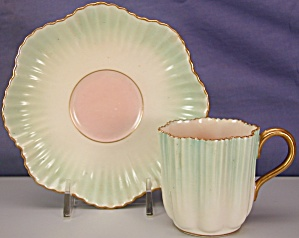 Coalport Crimped demitasse cup & saucer (Image1)