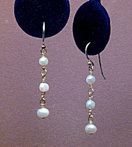 Freshwater Pearl Nuggets & SS Drop Earrings (Image1)