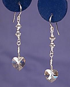SS & Swarovski Crystal Silver Shade Hearts #2 (Image1)