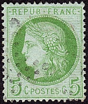 France Sc#53a (1872) (Image1)