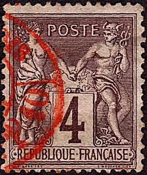 France Sc#90a (1877-1880) (Image1)