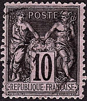France Sc#91a (1877-1880) (Image1)