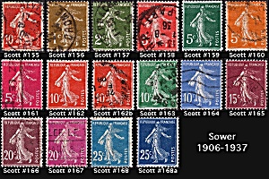 Sower Issue Of 1906-1937 Sc#155-168