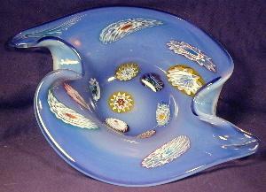 Murano blue millefiori art glass (Image1)