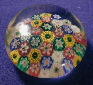 Millefiori Style Glass Paperweight (Image1)