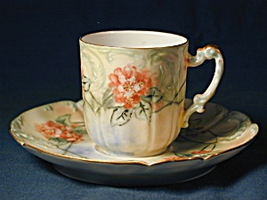 Haviland Limoges hand painted demi c & s (Image1)