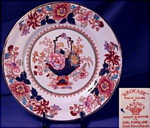 "Mason's hand painted ""Brocade"" plate #1 (Image1)"