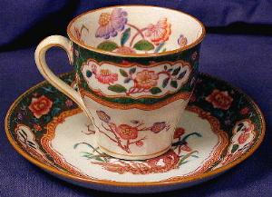 Minton Hand Painted Demi-tasse Cup & Saucer