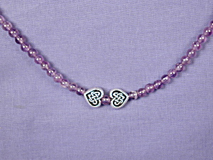 Amethyst & Celtic Hearts necklace (Image1)