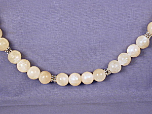 Yellow Jade & Pewter Necklace (Image1)