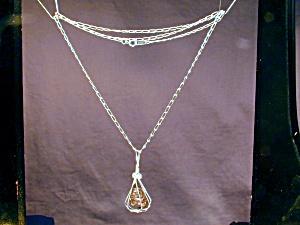 Caged Leopard Jasper & SS necklace (Image1)