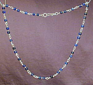 Lapis Lazuli & Sterling Silver necklace (Image1)