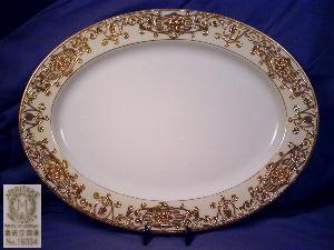 Noritake Platter w/hand painted gilt border (Image1)