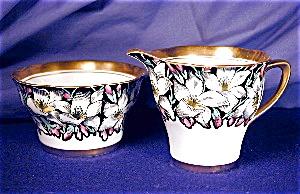 Rosina Bold Floral creamer & sugar (Image1)