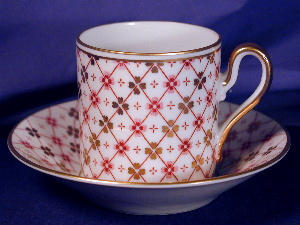 Royal Bayreuth hand painted pink & gold demi (Image1)