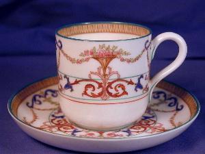 Royal Worcester hand painted demi-tasse c&s (Image1)