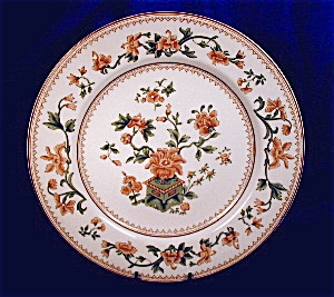 Royal Worcester tan & green transfer plate (Image1)