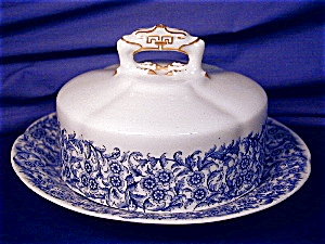 Royal Worcester blue floral Covered Butter (Image1)