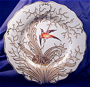 Chamberlains Worcester Hp Bird Plate