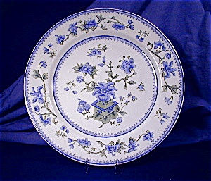 Royal Worcester blue & green transfer plate (Image1)