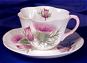 Shelley Dainty Thistle cup & saucer (Image1)