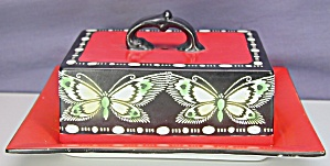 Shelley Butterfly Covered Deco Butter Dish (Image1)