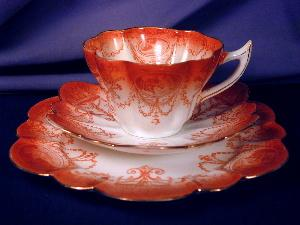 Wileman Snow Drop Cameo trio in burnt orange (Image1)